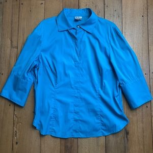 Worth French Cuff 3/4 Popover Blouse